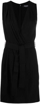 DSQUARED2 Belted Silk-Crepe Dress