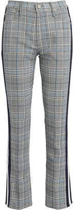 Mother The Insider Plaid Ankle Jeans
