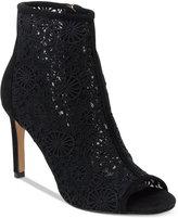 Nanette Lepore Nanette by Heidi Crochet Peep-Toe Booties Women's Shoes