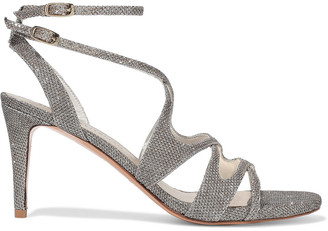 Stuart Weitzman Cutout Lame Sandals