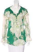 Roberto Cavalli Floral Print Silk Top