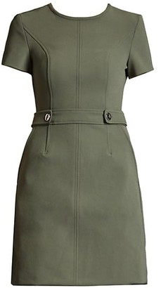 Toccin Crepe Short-Sleeve Dress