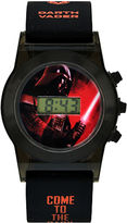 Star Wars Darth Vader Kids Black Silicone Strap Flashing LCD Digital Watch