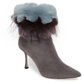 Manolo Blahnik Women's Remola Genuine Rabbit & Fox Fur Bootie