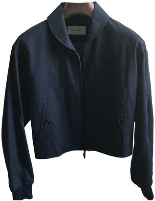 Lemaire Navy Cotton Leather jackets