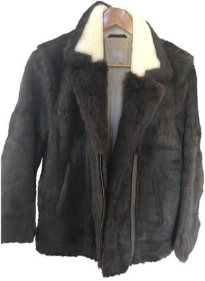 Pablo Brown Fur Coat for Women