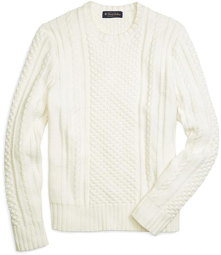 Brooks Brothers Cable Knit Crewneck