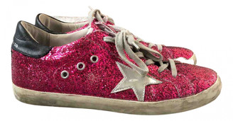 Golden Goose Red Glitter Trainers