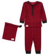 Ralph Lauren Buffalo Check Pajama Set Red/Polo Black 12M