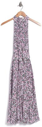 Diane von Furstenberg Nicola Printed High Neck Silk Dress