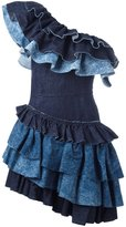 Diesel ruffled dress - women - Cotton - S