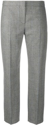 Alexander McQueen Cropped Checked Trousers