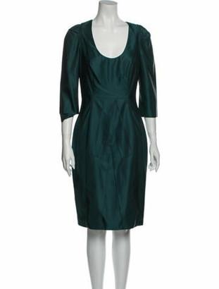 Prada Vintage Knee-Length Dress Wool