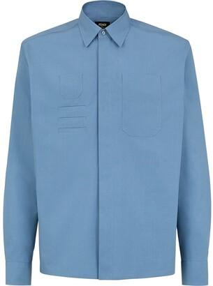 Fendi Pocket-Detail Long-Sleeve Shirt