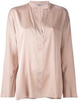 Vince split neck blouse - women - Silk/Spandex/Elastane - S