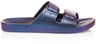 Freedom Moses Metallic Two-Strap Slides