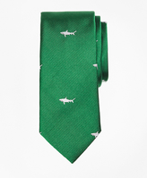 Brooks Brothers Shark Print Silk Tie
