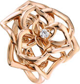Piaget Rose Ring with Diamond in 18K Red Gold, Size 6