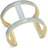 INC International Concepts Gold-Tone Blue Open Cuff Bracelet, Only at Macy's