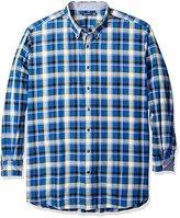 Nautica Men's Big and Tall Pacific Plaid Shirt