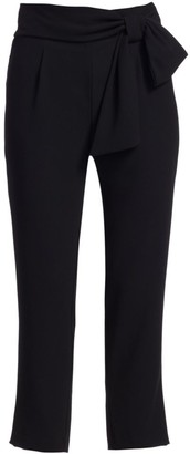 ML Monique Lhuillier Bow Detail Tapered Pants