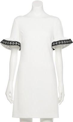 Elle Women's Flutter-Sleeve Shift Dress