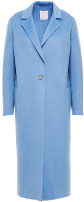 Sandro Emilie Brushed Wool-blend Felt Coat