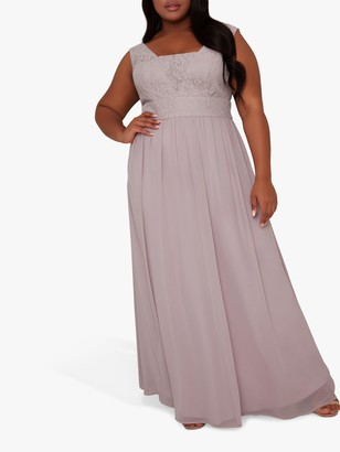 Chi Chi London Curve Lililina Maxi Dress, Lilac