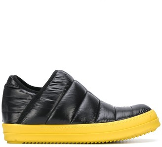 Rick Owens Quilted Colour-Block Sneakers