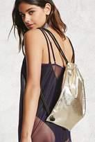 Forever 21 Metallic Drawstring Backpack