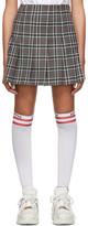 MSGM SSENSE Exclusive Grey Check Pleated Miniskirt
