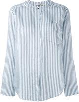 Vince striped chest pocket shirt - women - Silk - L