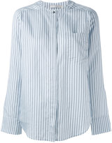 Vince striped chest pocket shirt - women - Silk - M