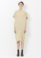 Issey Miyake beige peanuts knit top