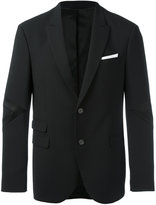 Neil Barrett single-breasted suit jacket - men - Polyamide/Polyester/Spandex/Elastane/Virgin Wool - 48
