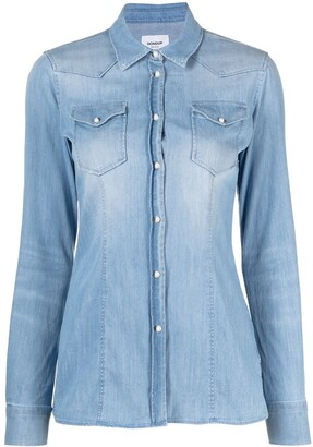Dondup Bleach-Wash Denim Shirt