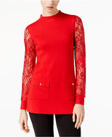 INC International Concepts I.n.c. Lace-Sleeve Sweater Tunic, Created for Macy's