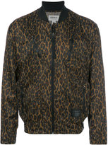adidas leopard print lightweight bomber jacket