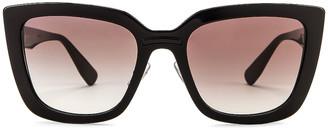 Miu Miu Oversized Square Sunglasses in Black | FWRD