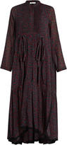 Chloé Cherry-print cotton and silk-blend crepon dress
