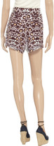 Mara Hoffman Animal-print lightweight crepe shorts