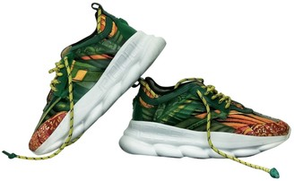Versace Chain Reaction Green Cloth Trainers