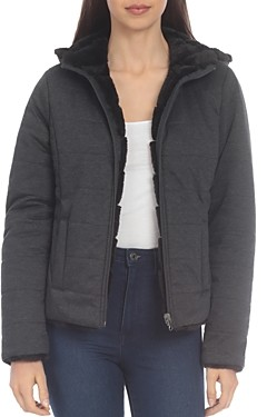 Bagatelle Reversible Faux Far & Knit Quilted Jacket
