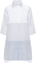 Isolde Roth Plus Size Patchwork style linen blouse