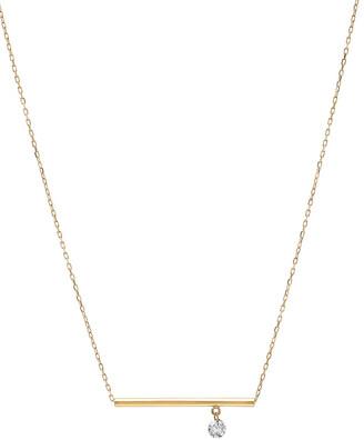 Nicha Jewelry 18k Floating Diamond & Bar Pendant Necklace