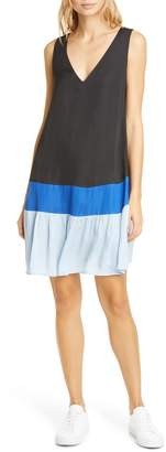 Dolan Pierce Colorblock V-Neck Shift Dress