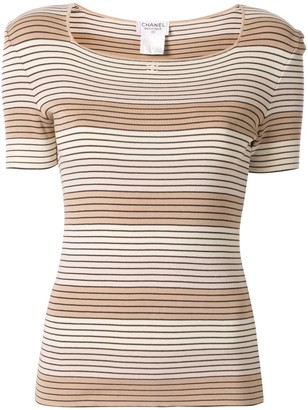 Chanel Pre-Owned 1998 striped T-shirt