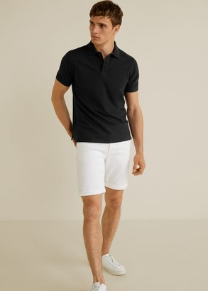 MANGO Cotton basic polo shirt