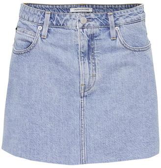 Calvin Klein Jeans Mid Rise Denim Skirt
