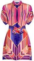 Gottex Art Deco Silk Shirt Dress